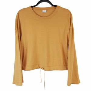Wilfred Mustard Yellow Oversized Cinched Top sz S
